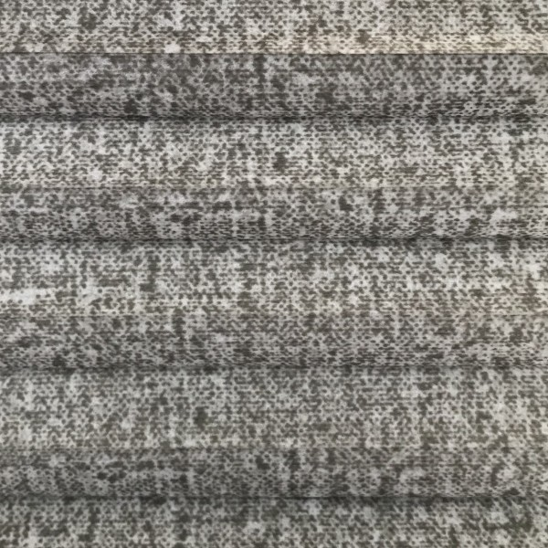 Wabenplissee Lambada Grau-Weiß