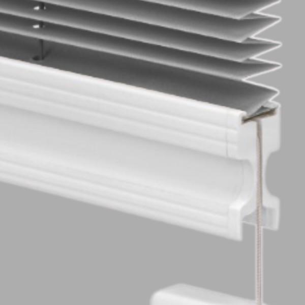 15mm Slimline Plissee Kyoto Perl Stahl-Grau