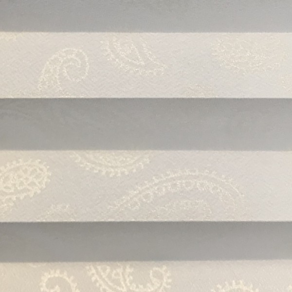 Plissee Interieur Print Weiß