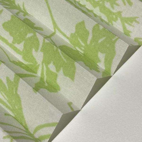 Plissee Tivoli Grün-Weiß
