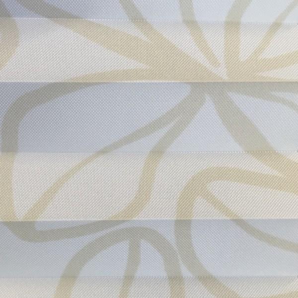 Plissee Clover Weiß-Honig
