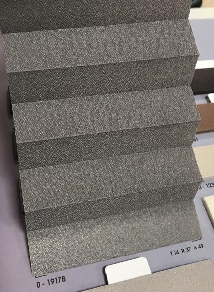 Plissee Slimline Kyoto Perl Grau 16mm