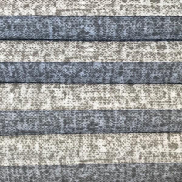 Wabenplissee Lambada Blackout Grau-Weiß