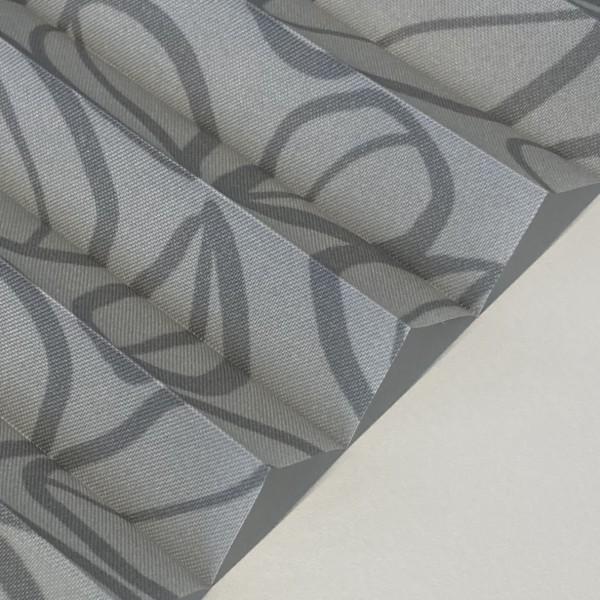 Plissee Clover Silber-Grau
