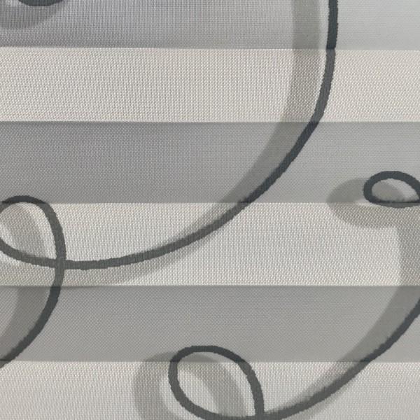 Plissee Infinite Weiß-Grau