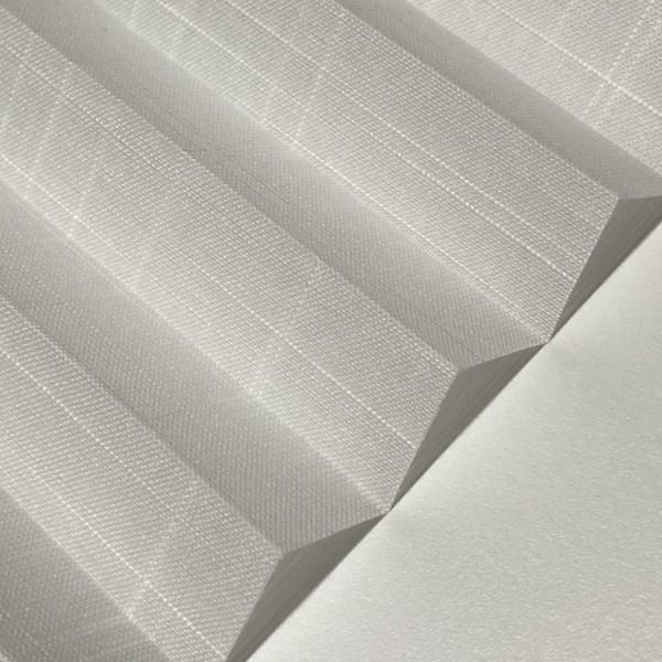 Plissee Waltz Transparent Weiß