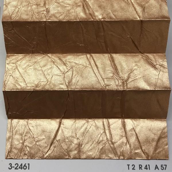 Plissee Vegas Metallic Kupfergold