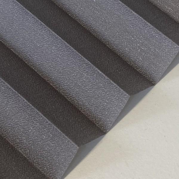 Plissee Kyoto Perl Stahl-Grau