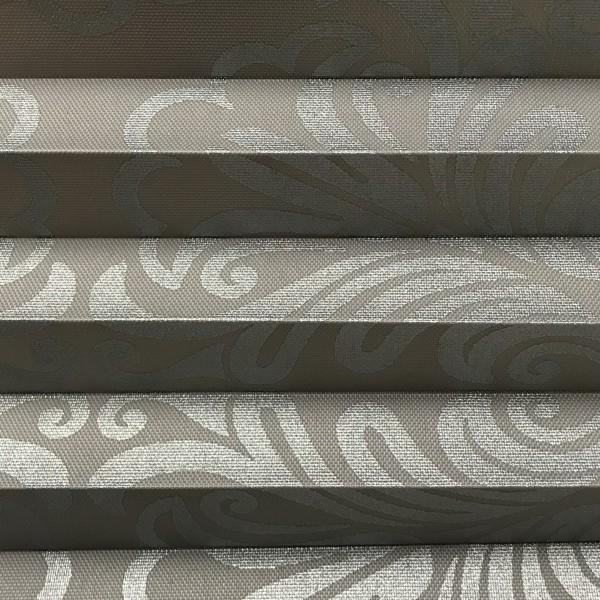 Plissee Oriental Metallic grau