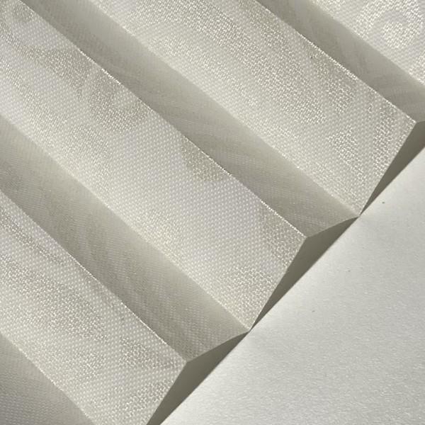 Plissee Oriental Metallic Weiß