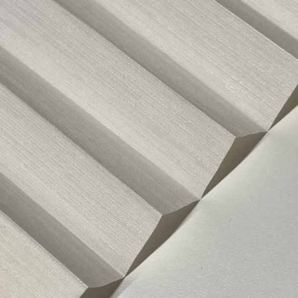 Plissee Madagaskar Perl Weiß