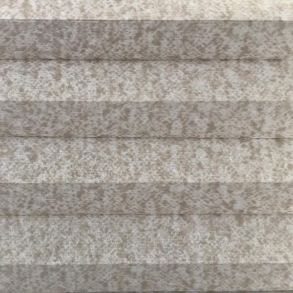 Wabenplissee Lambada Sand-Weiß