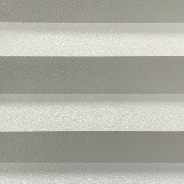 Plissee Kyoto Perl Rauch-Weiß