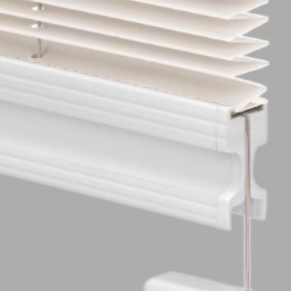 15mm Slimline Plissee Kyoto Perl Creme-Weiß