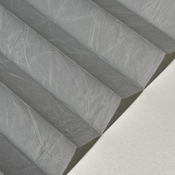 Plissee Crush Perl Silber-Grau