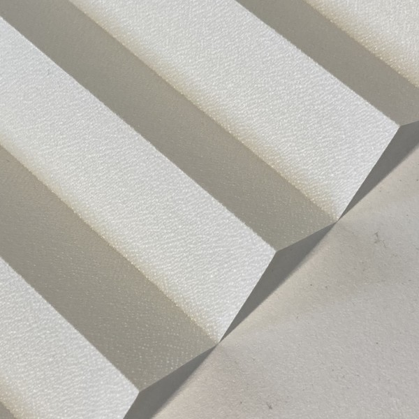 Plissee Kyoto Perl Creme-Weiß