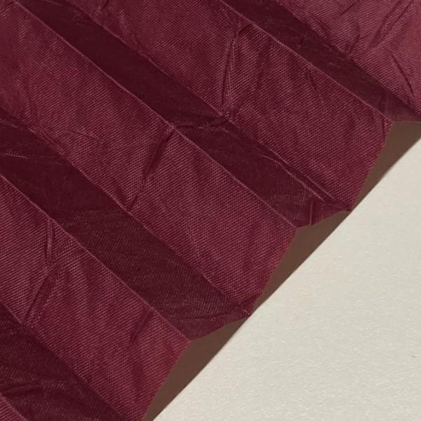 Plissee Crush Perl Exklusiv Bordeaux-Rot