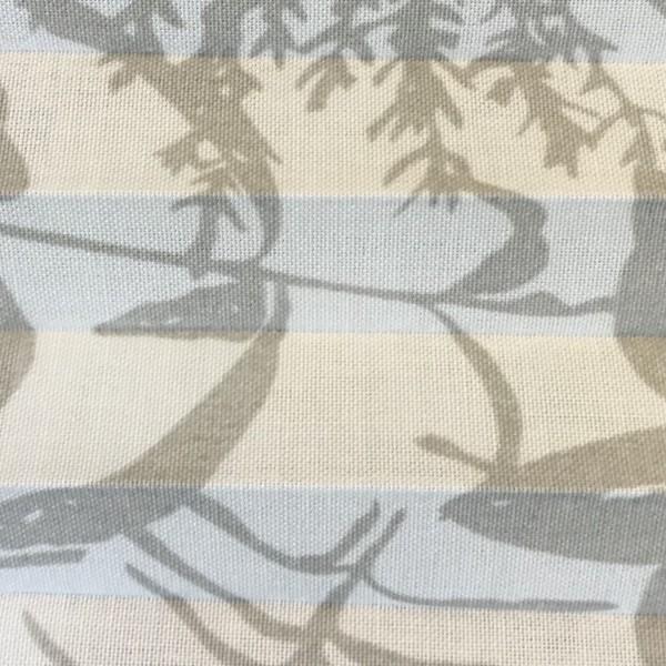 Plissee Tivoli Grau-Weiß