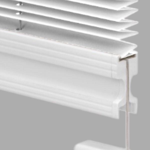 15mm Slimline Plissee Kyoto Perl Weiß