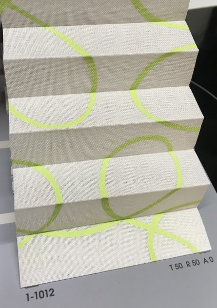 Plissee Flamenco Print Grün Weiß